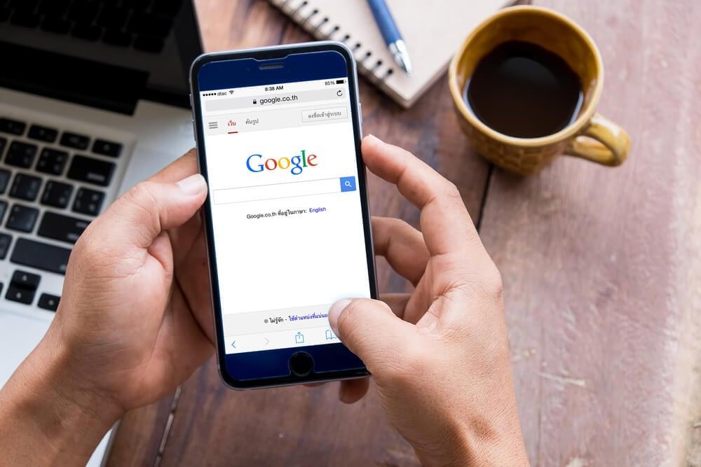 pesquisas no google pelo smartphone