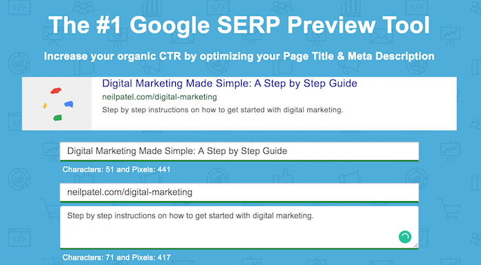 google SERP preview tool free SEO tool
