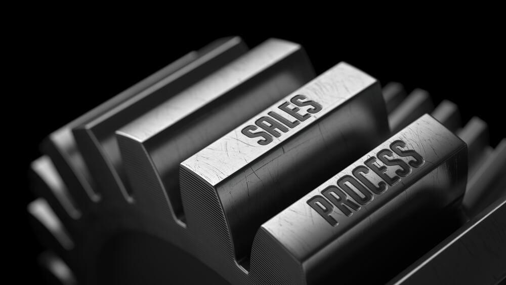processo de vendas em engrenagens