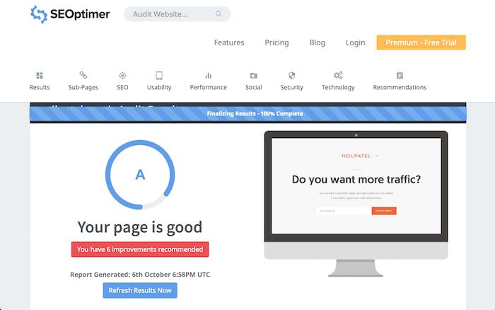 SEOptimizer free SEO tool