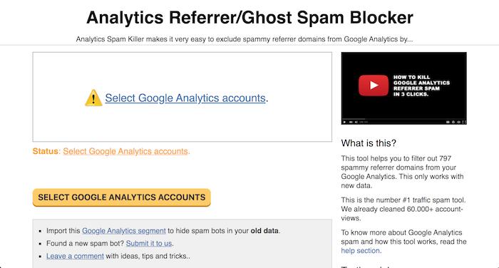 referrer spam killer free SEO tool