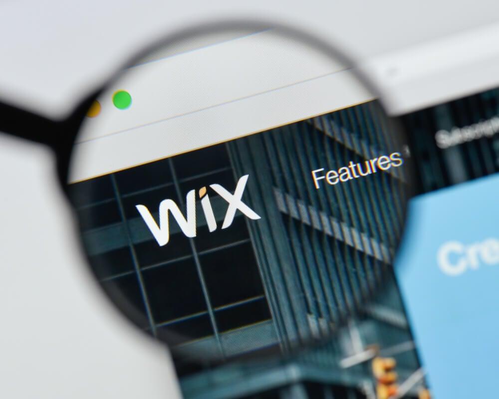 wix como exemplo de plataforma de loja virtual