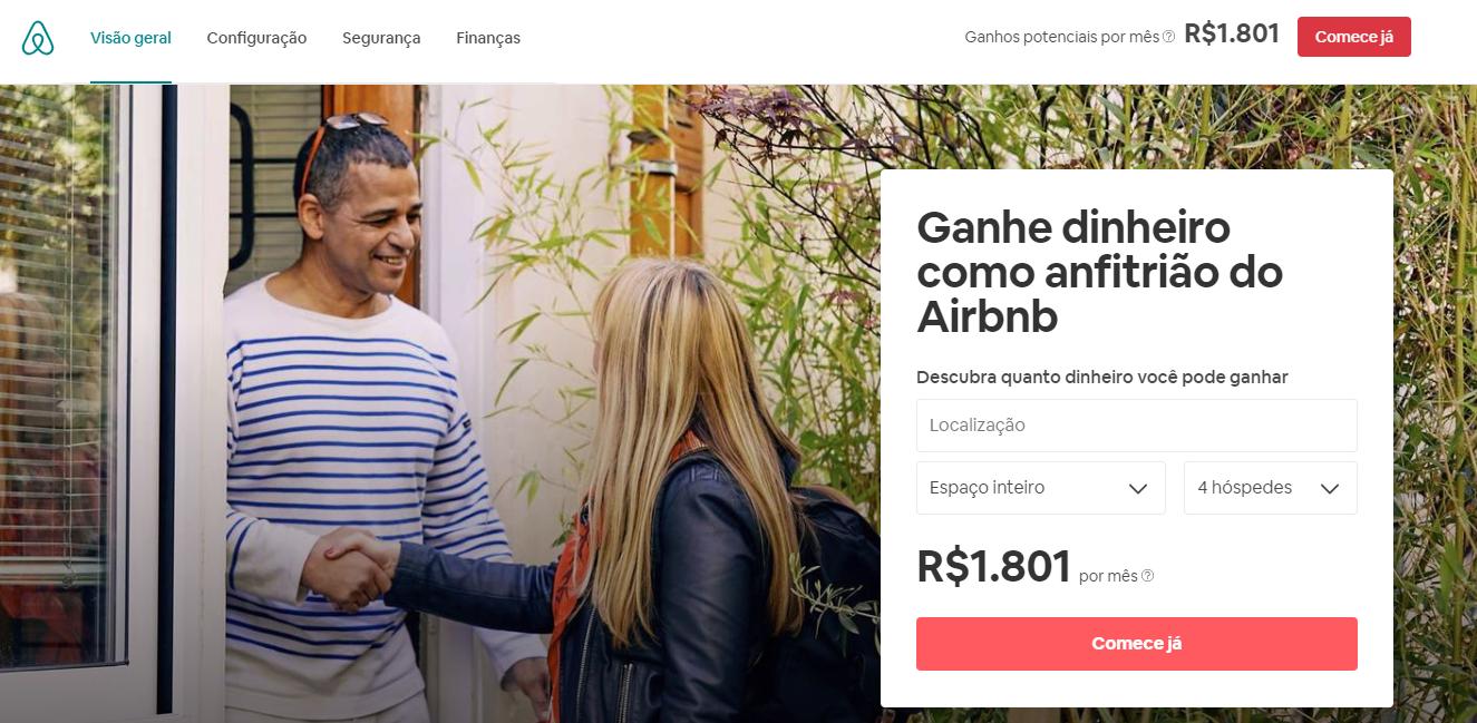 airbnb como exemplo de criatividade em landing pages