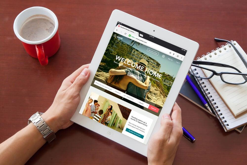 airbnb como exemplo de panding page