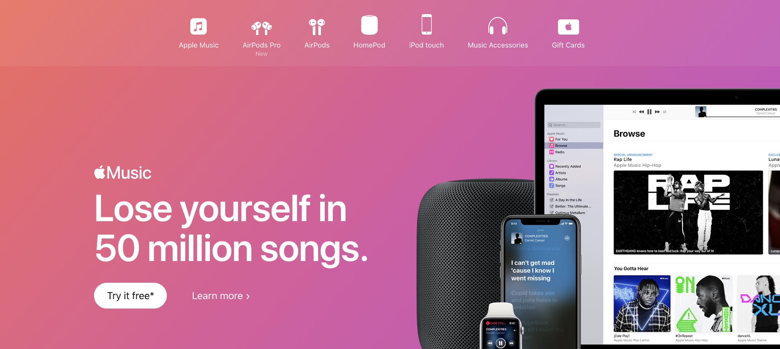 Apple Music como exemplo de plataforma digitais para música