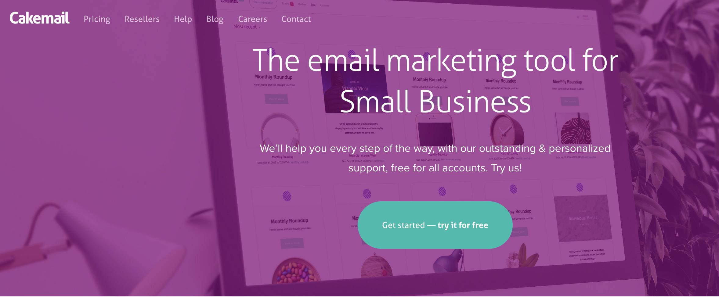 Cake Mail como exemplo de ferramenta grátis de email marketing