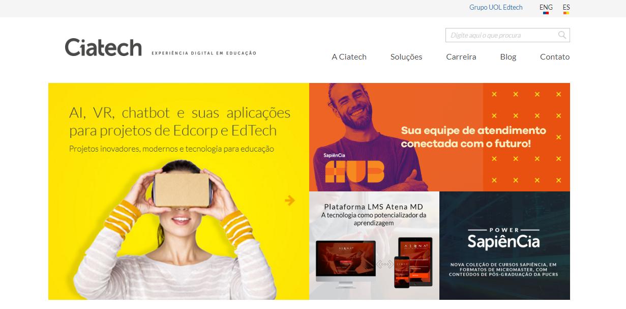 CiaTech como exemplo de plataforma de cursos online