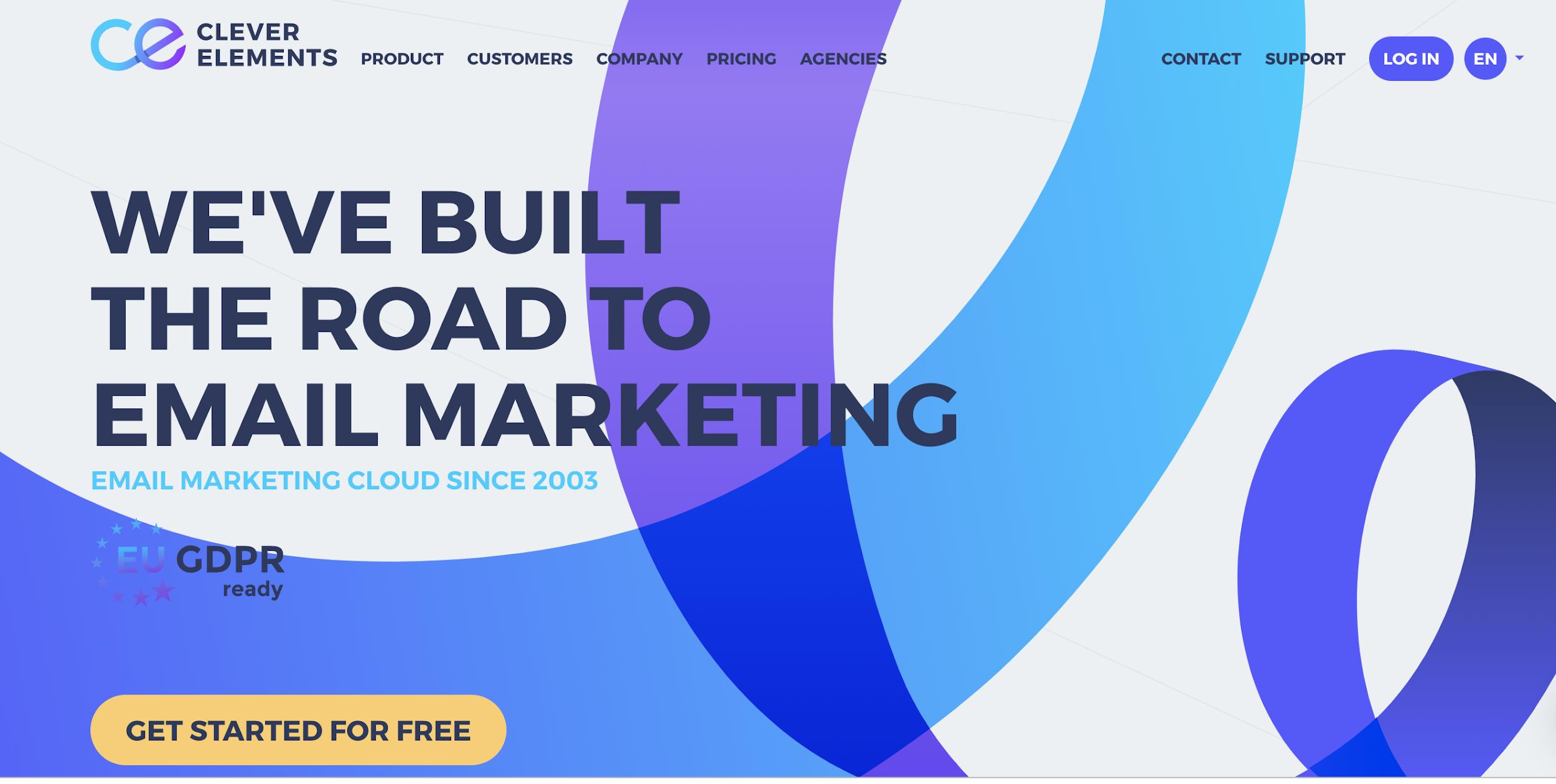 Clever Elements como exemplo de ferramenta grátis de email marketing
