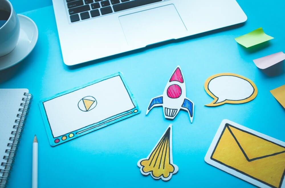 desenhos relacionados a aspectos de idéias de marketing