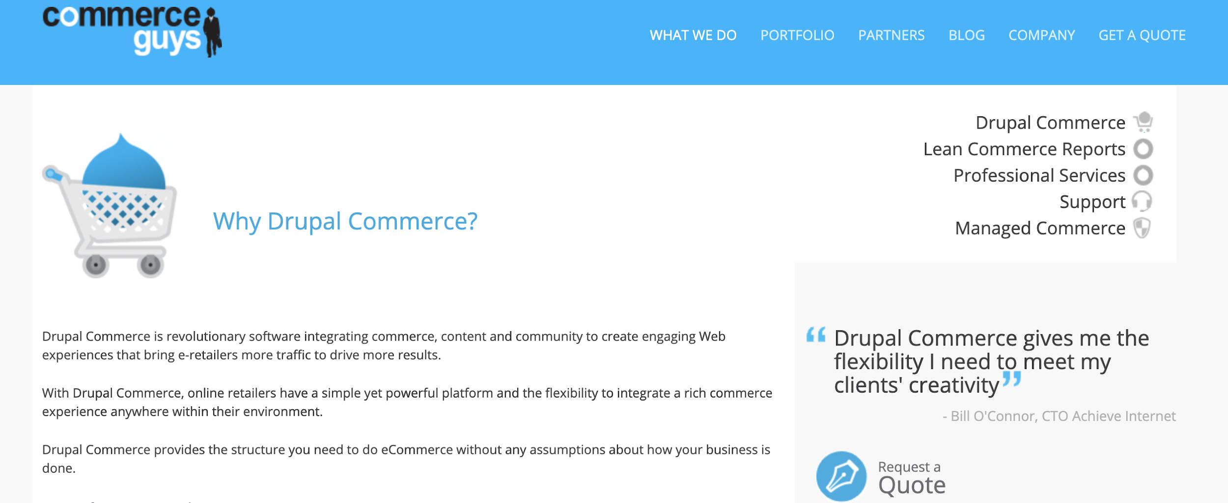Drupal como exemplo de plataforma de ecommerce