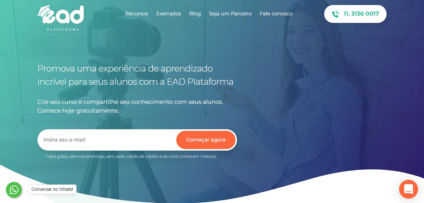 EAD Plataforma como exemplo de plataforma de cursos online