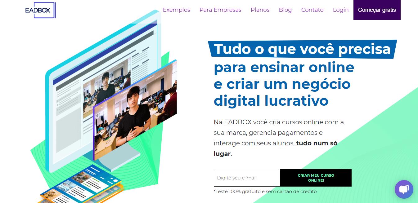 EAD Box como exemplo de plataforma de cursos online