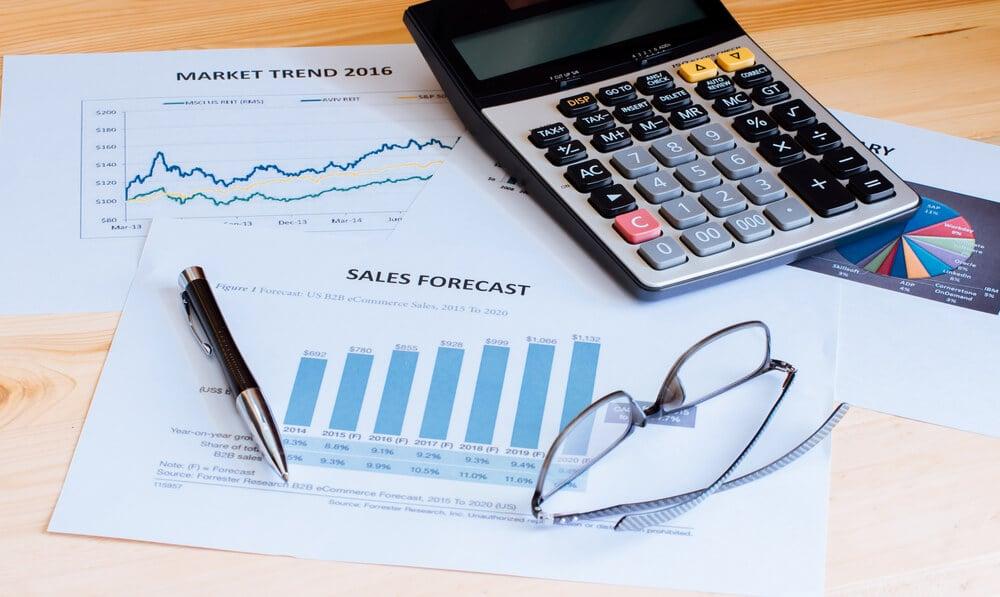 elementos analisados em uma previsão de vendas