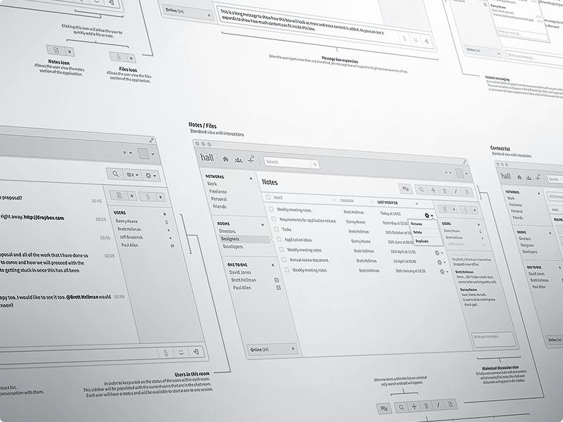 exemplo da ferramenta MacChat para wireframes