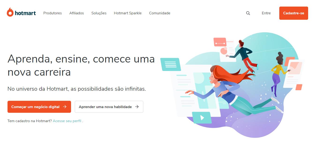 HotMart como exemplo de plataforma de cursos online