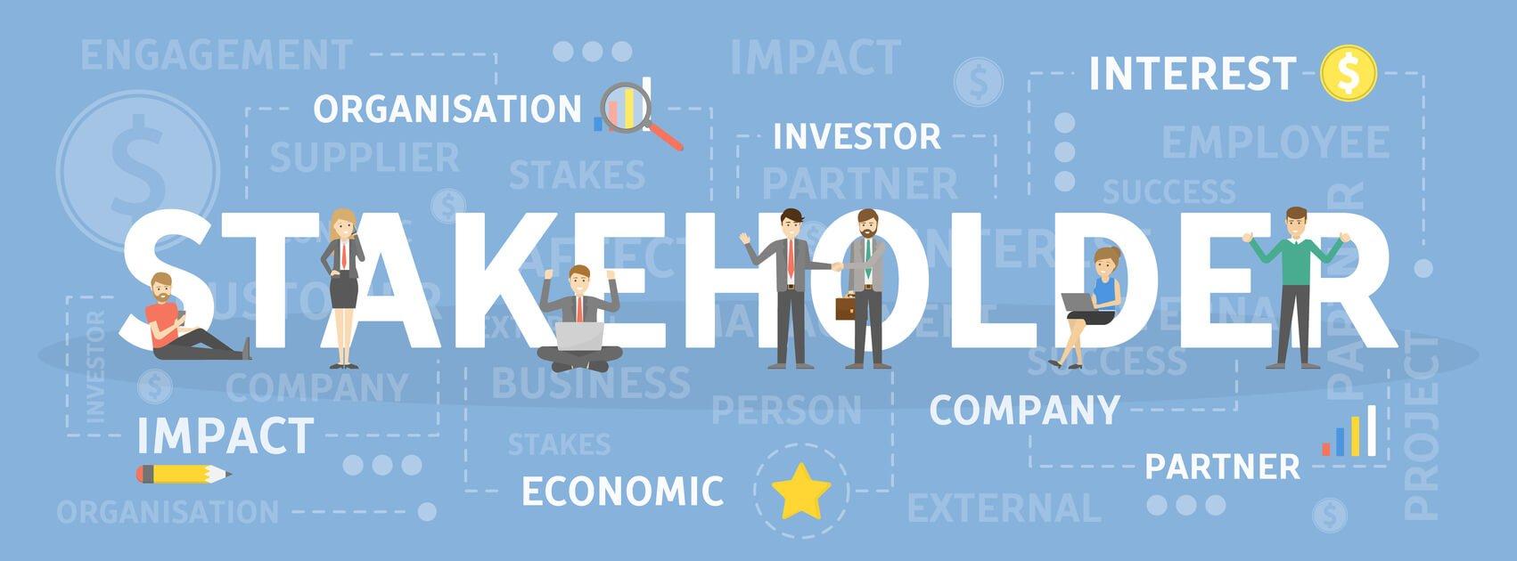 ilustração relacionada aos stakeholders
