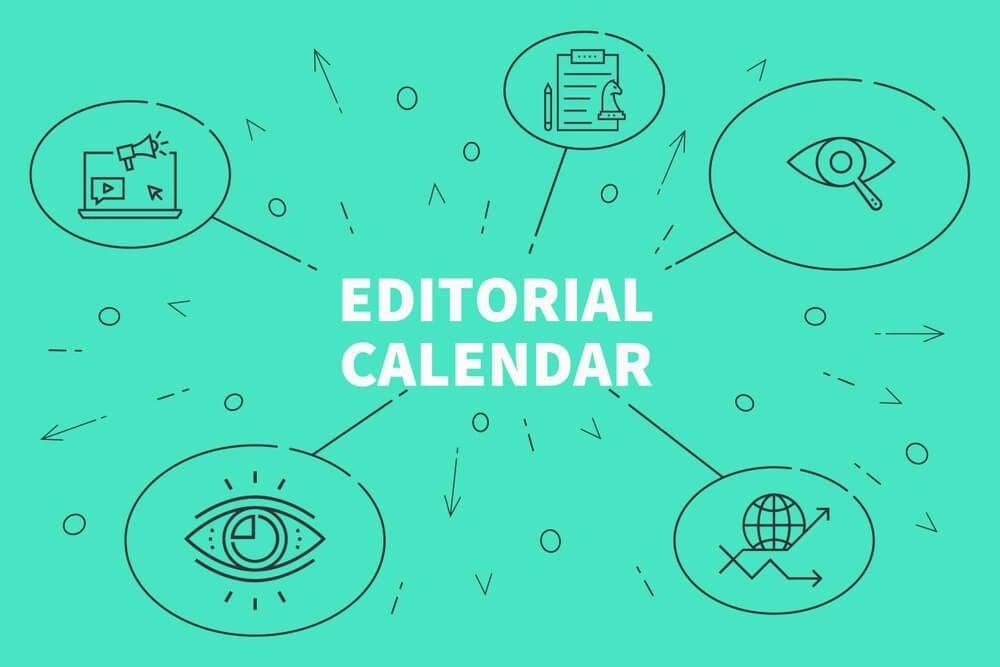 ilustração sobre agenda editorial