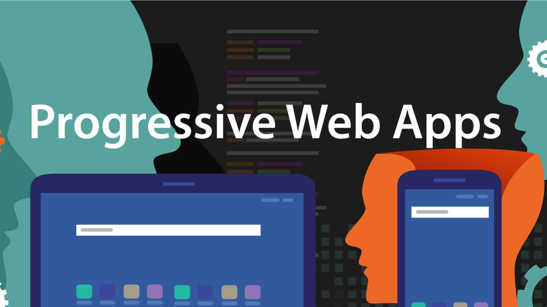 ilustração sobre progressive web app