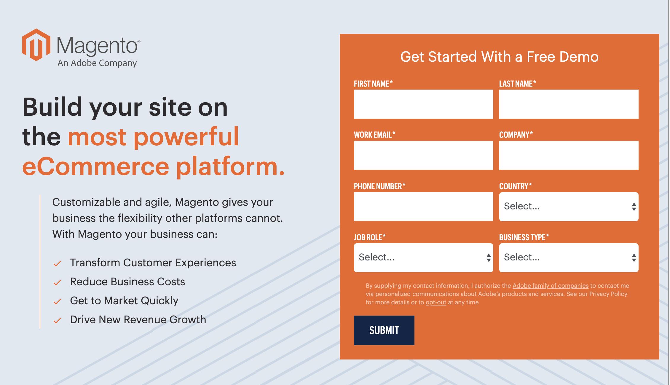 Magento como exemplo de plataforma ecommerce