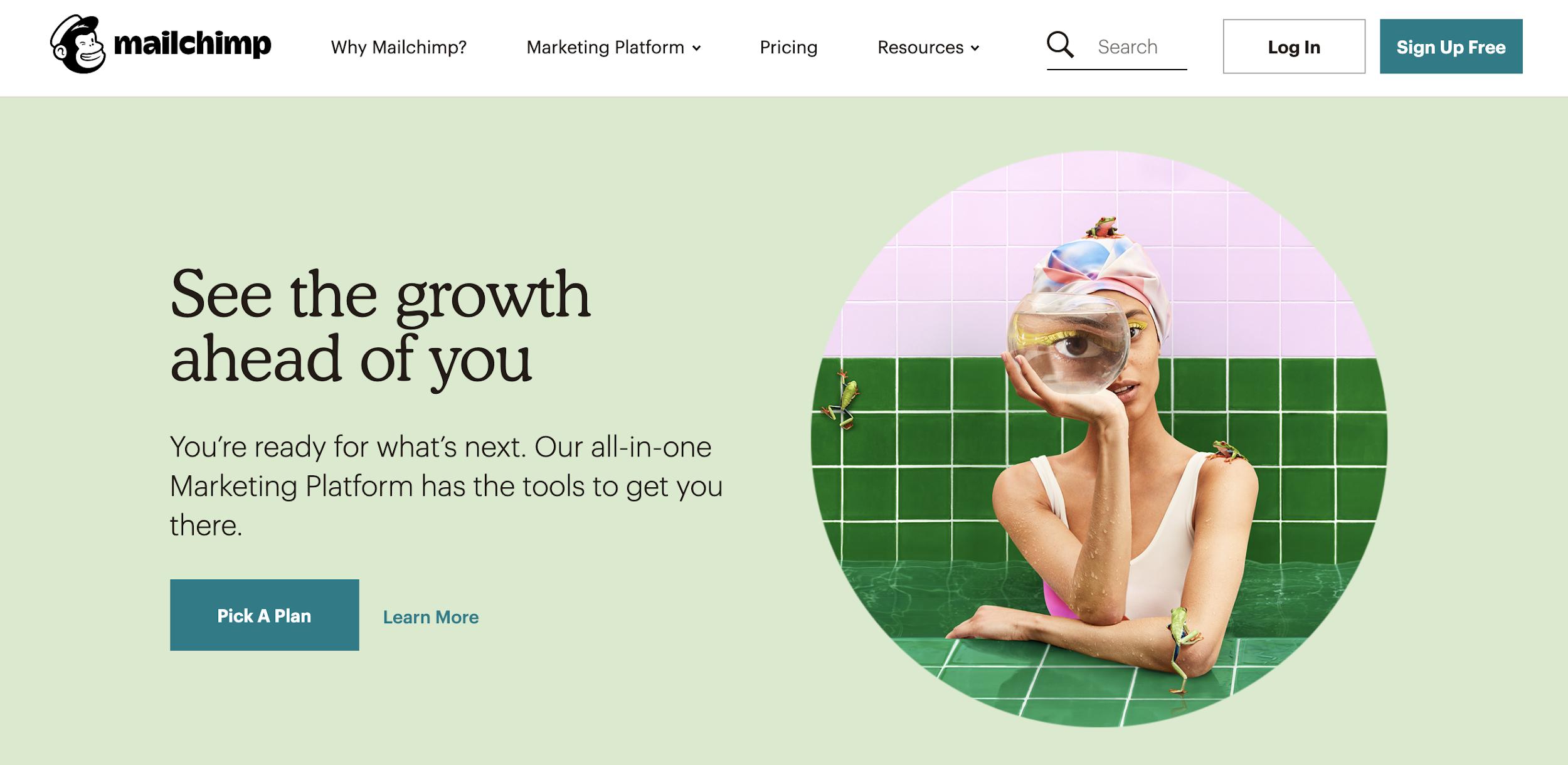 Mailchimp como exemplo de ferramenta grátis de email marketing