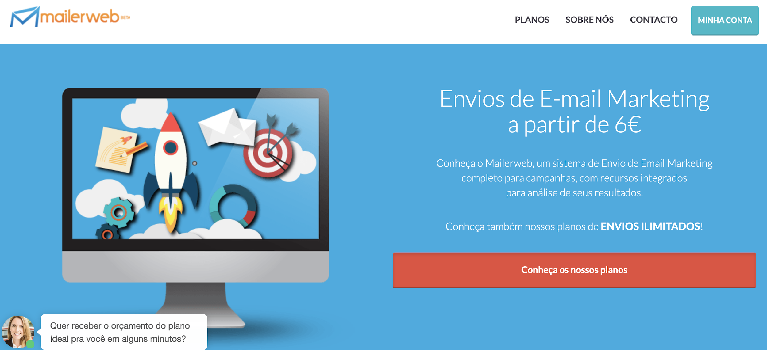 Mailer Web como exemplo de ferramenta de email marketing