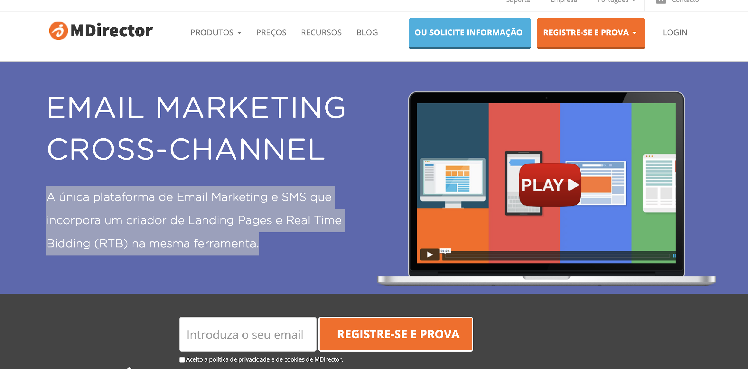 MDirector como exemplo de ferramenta de email marketing