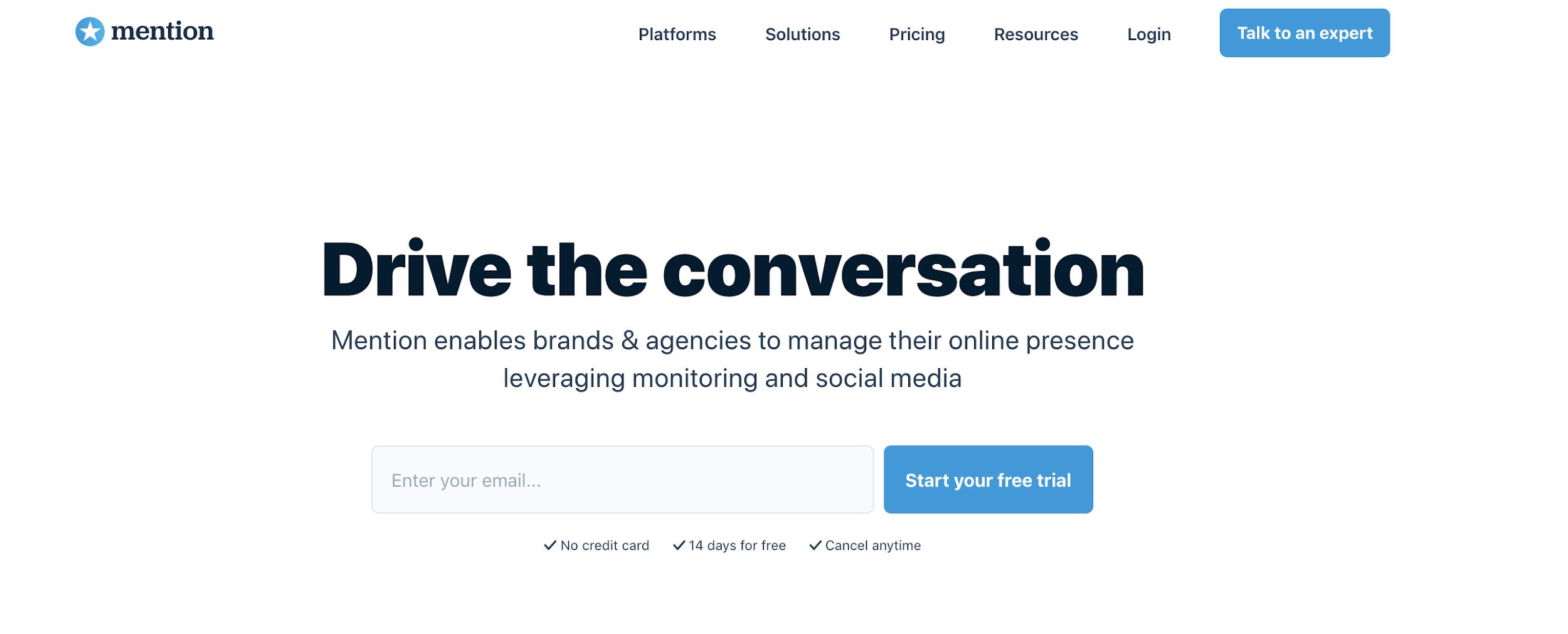Mention como exemplo de plataforma digitais