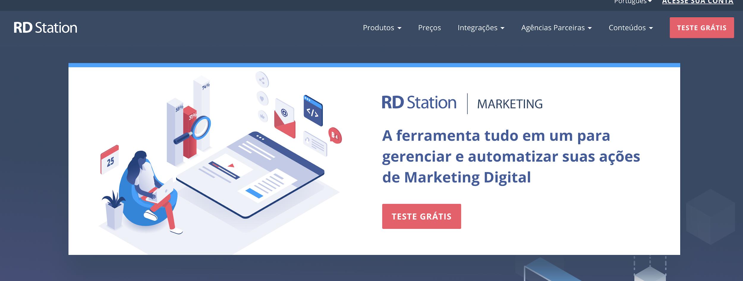 RD Station como exemplo de plataforma digitais