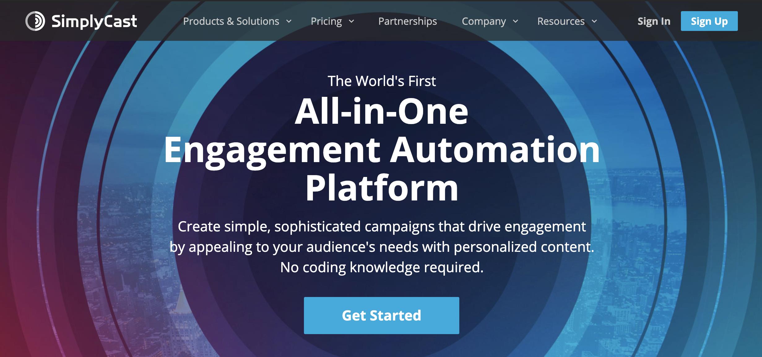 SimplyCast como exemplo de ferramenta grátis de email marketing