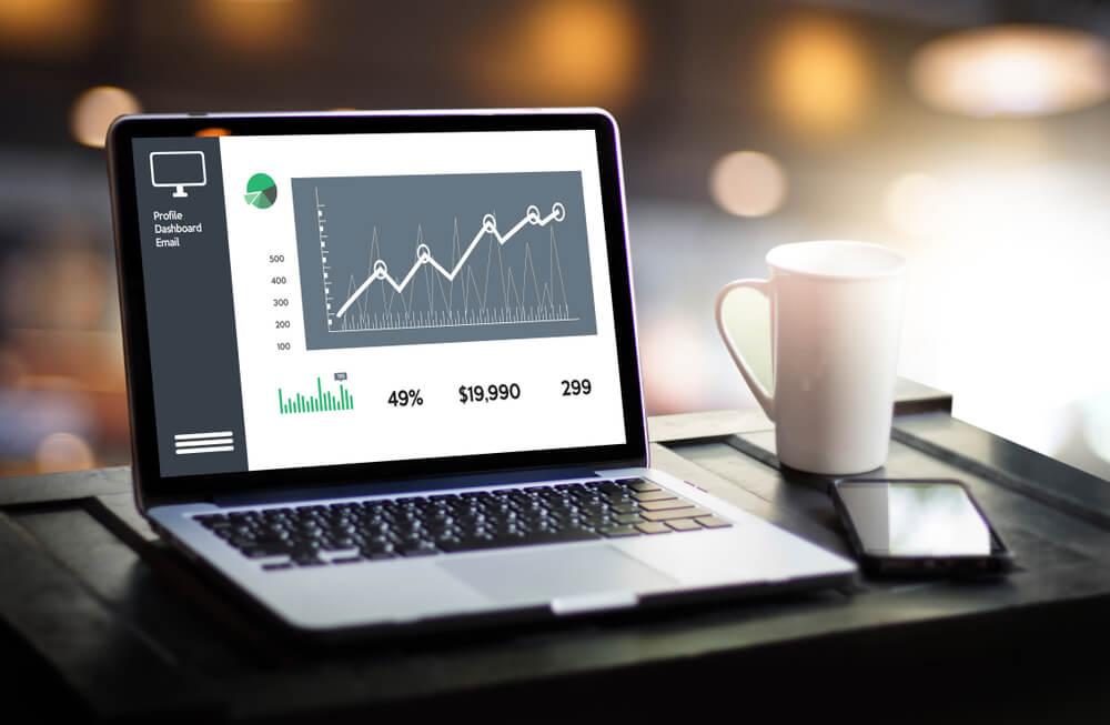tela em notebook de previsão de vendas