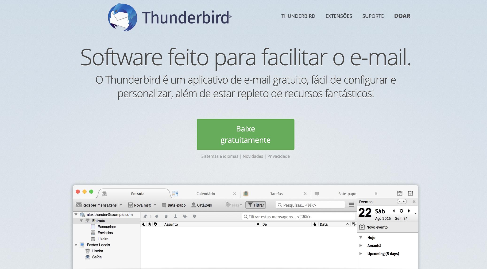 Thunderbird como exemplo de ferramenta grátis de email marketing