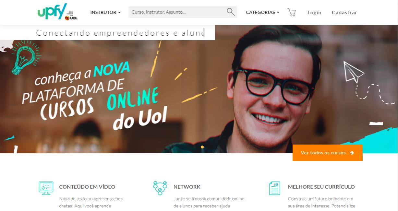 UOL Educação como exemplo de plataforma de cursos online
