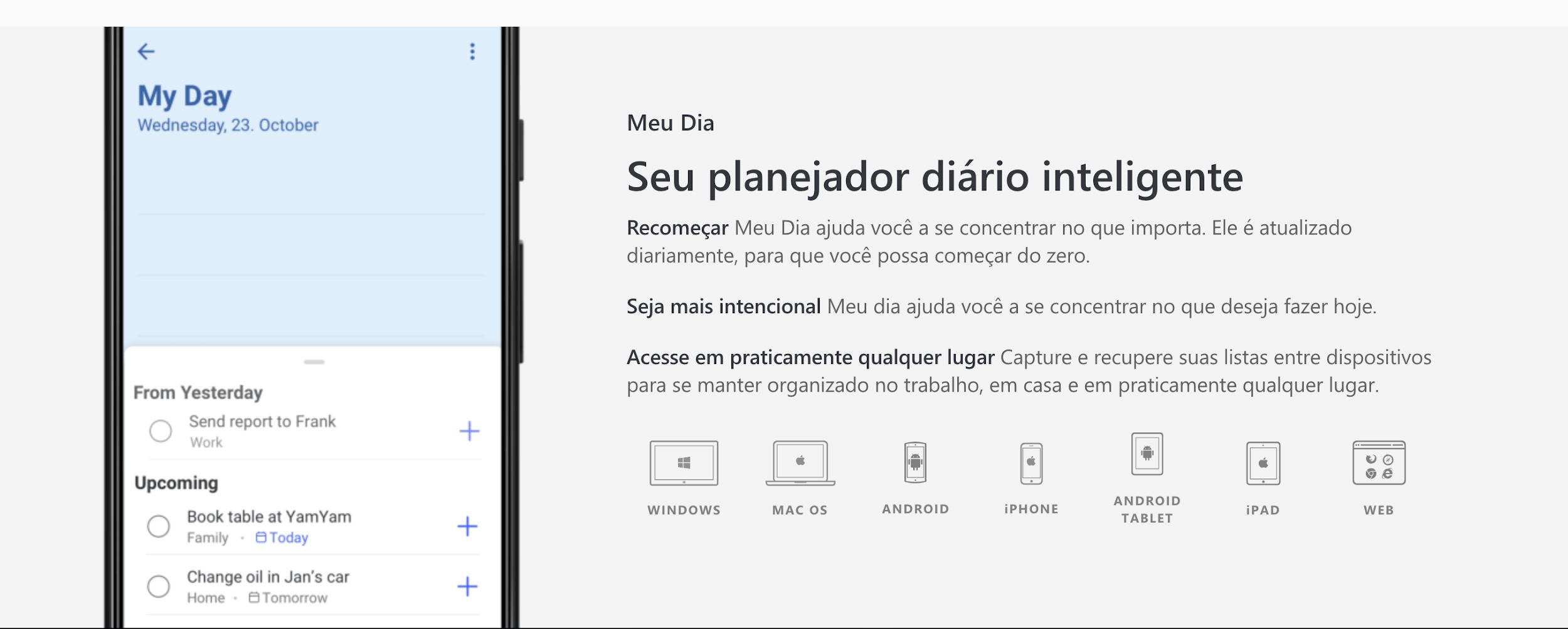 Wunderlist como exemplo de plataforma digitais