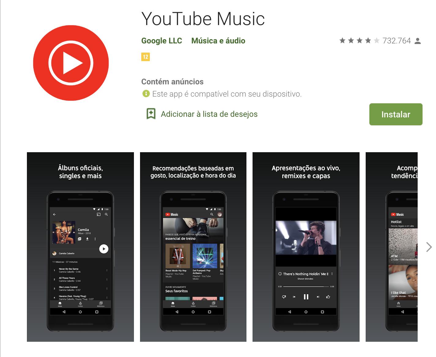 Youtube Music como exemplo de plataforma digitais para música