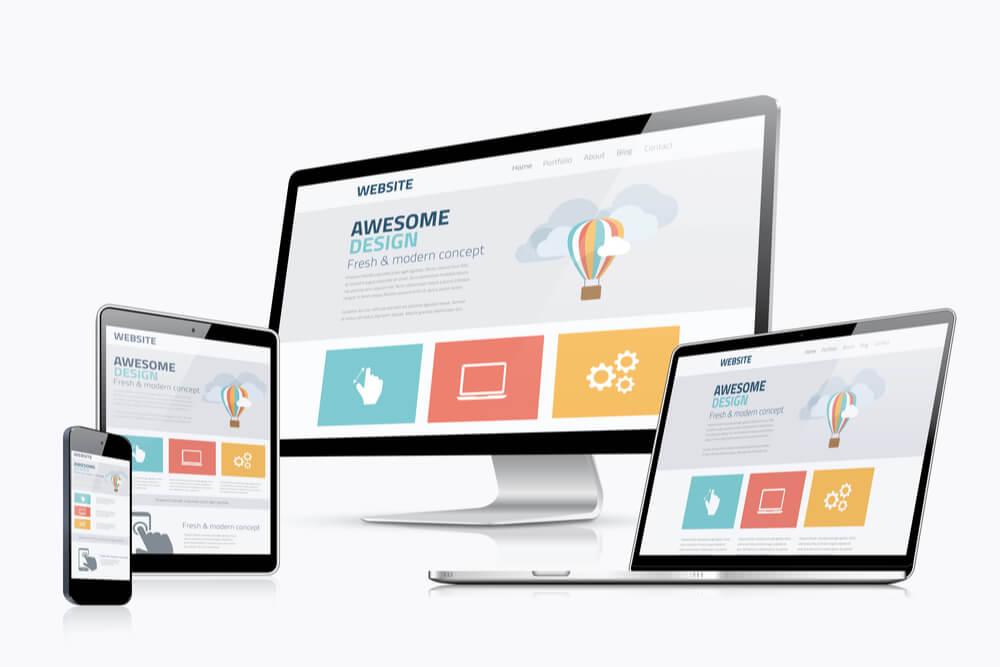 elementos de criação de sites e web design