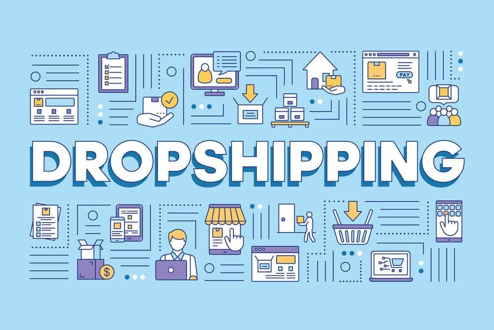 ilustração sobre dropshipping