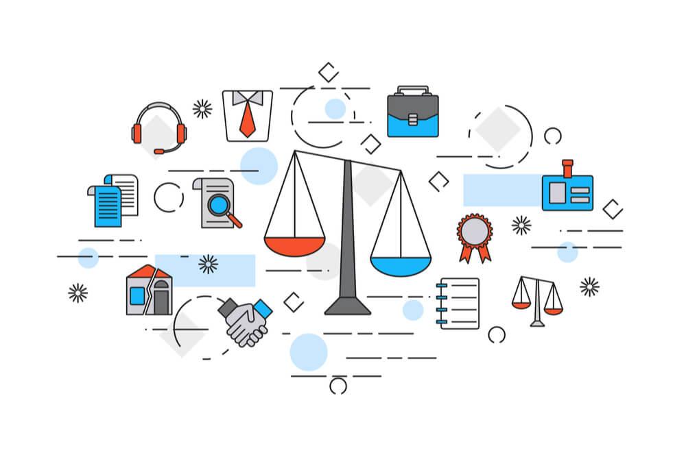 ilustração sobre marketing jurídico