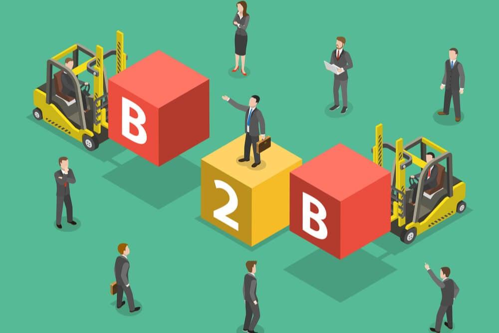 ilustração sobre vendas B2B