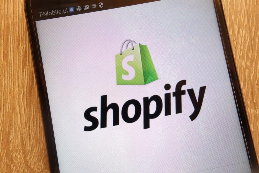 shopify em dispositivos móveis