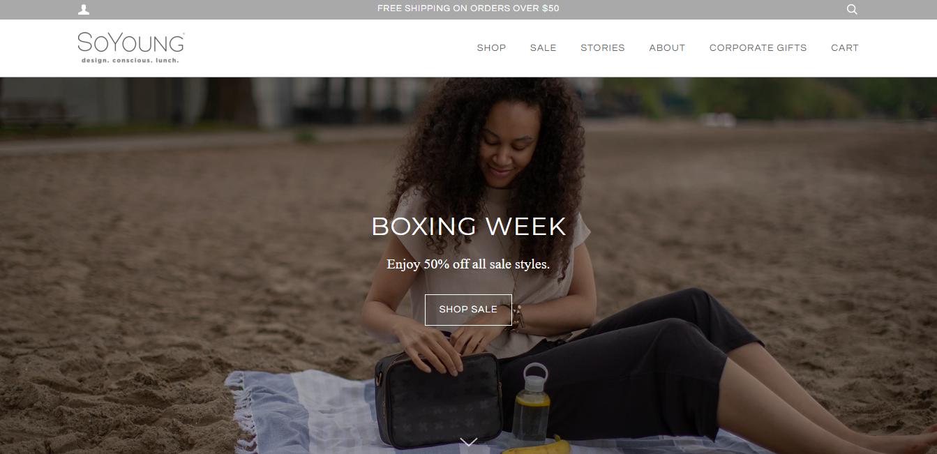 SoYoung Inc como exemplo de site que utiliza Shopify