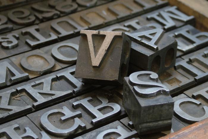 tipografia em ferro