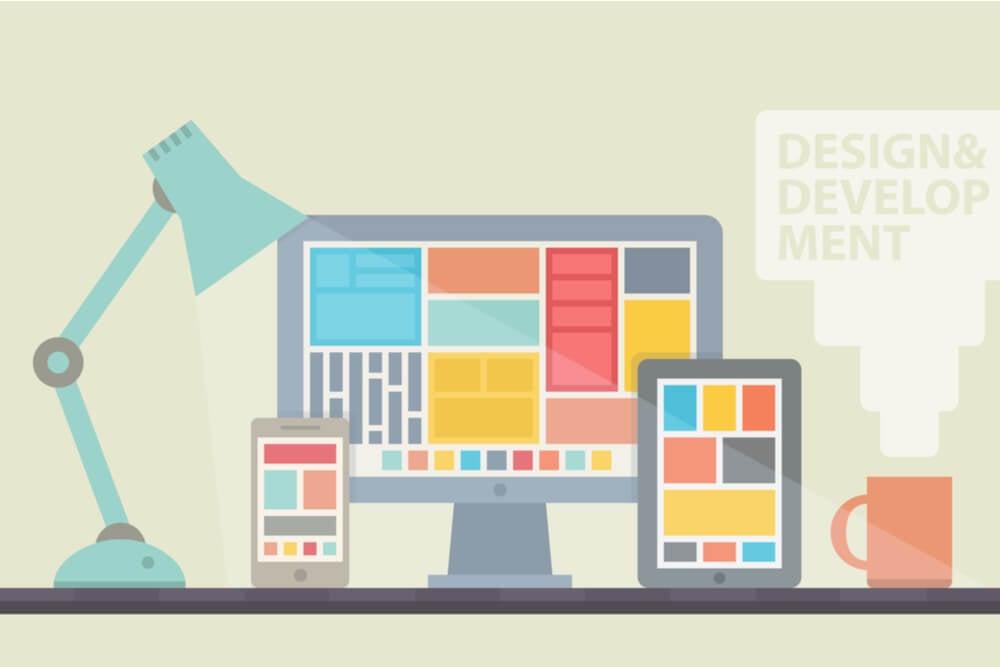 ilustração sobre aplicação do design responsivo