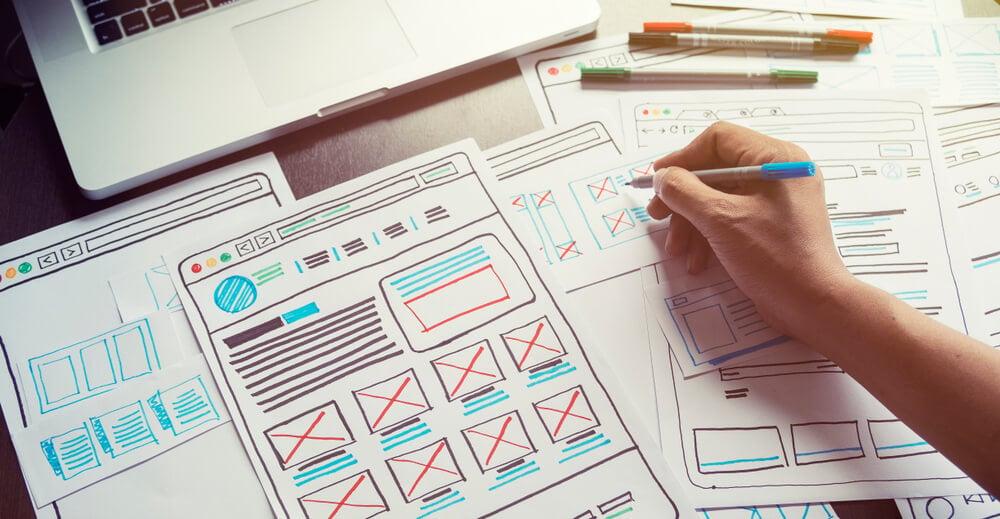 rascunhos de design responsivo