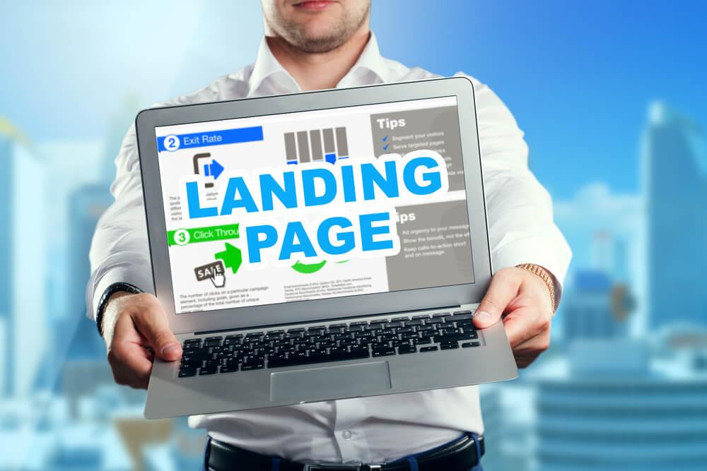funçoes de uma landing page