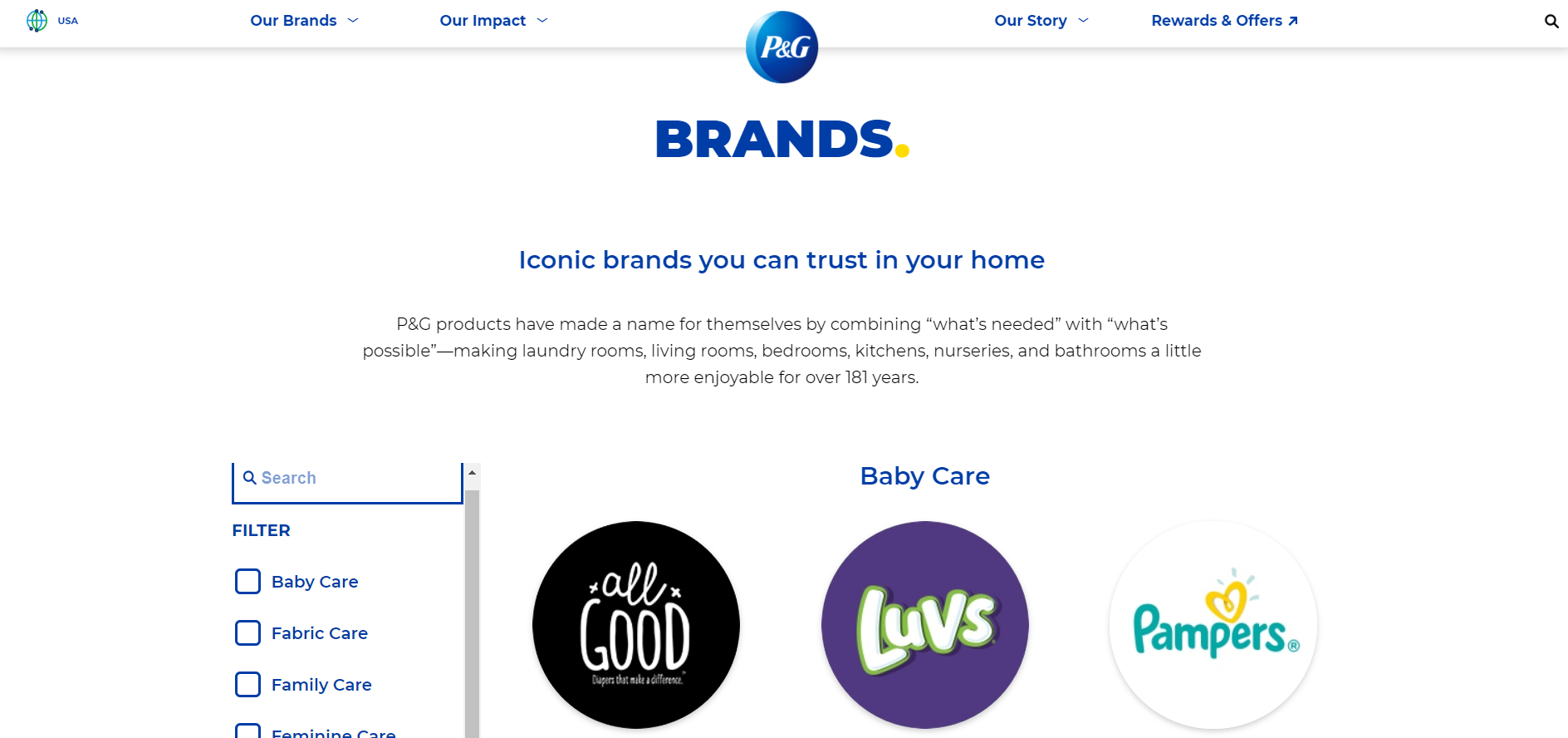 Product lifecycle - Procter & Gamble example