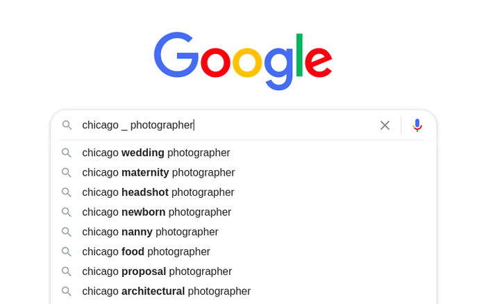 Google Autocomplete predictions 7