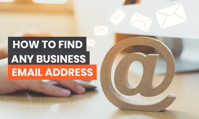 find any email address