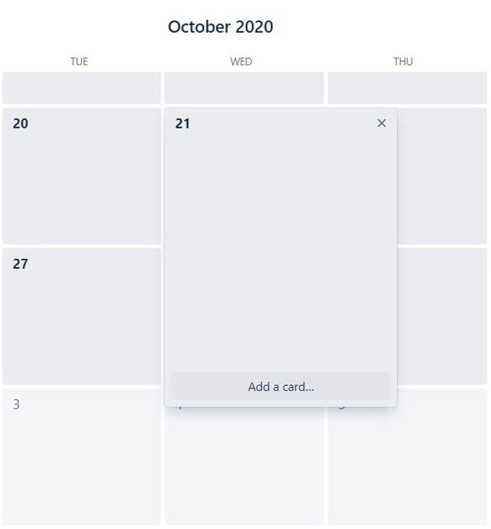 add card in trello marketing calendar