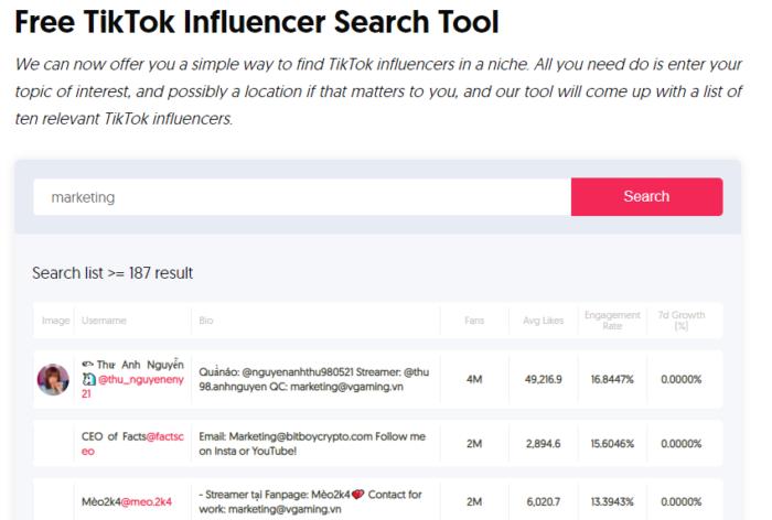 social media marketing tiktok influencers