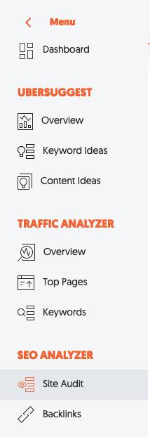 Verwenden Sie ubersuggest, um veraltete Inhalte zu finden